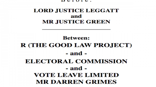 Our Electoral Commission challenge – we won