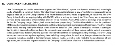 Extract from Uber documentation