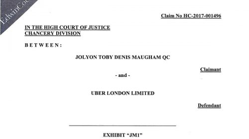Uber Case Update: Copies of our Filings